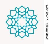 snowflake icon. christmas... | Shutterstock .eps vector #729358096