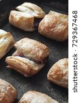 Small photo of fresh puff pastries, close up