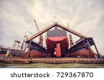 harbor ship repair shop | Shutterstock . vector #729367870