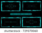 hud abstract futuristic user... | Shutterstock .eps vector #729370060