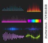 vector digital music equalizer... | Shutterstock .eps vector #729381808