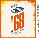 vintage vehicle vector tee... | Shutterstock .eps vector #729383488