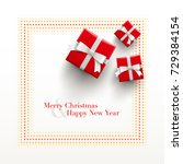 merry christmas and happy new... | Shutterstock .eps vector #729384154