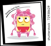 colorful monster on white... | Shutterstock .eps vector #72938629