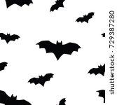 seamless texture pattern bat | Shutterstock . vector #729387280