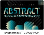 geometric font with color... | Shutterstock .eps vector #729394924