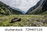 stubai valley in the alps with... | Shutterstock . vector #729407110