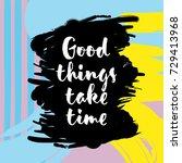inspirational and motivational... | Shutterstock .eps vector #729413968