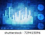 2d rendering stock market... | Shutterstock . vector #729415096