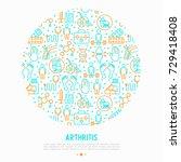 arthritis concept in circle... | Shutterstock .eps vector #729418408