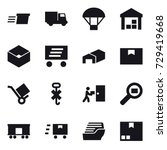 16 vector icon set   delivery ... | Shutterstock .eps vector #729419668