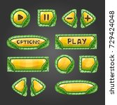 cartoon yellow buttons with...