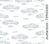 taxi pattern. design for... | Shutterstock .eps vector #729424363