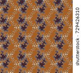 autumn colored seamless pattern ... | Shutterstock . vector #729426310