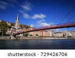 the saint georges footbridge... | Shutterstock . vector #729426706