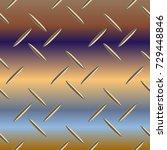 metal grid pattern for design... | Shutterstock . vector #729448846