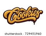 cookies typography | Shutterstock .eps vector #729451960