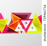 color triangles background ... | Shutterstock .eps vector #729461716