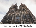details of cologne cathedral... | Shutterstock . vector #729462484