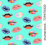 seamless watercolor pattern... | Shutterstock . vector #729470320