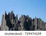 sharp limestone rock formations ... | Shutterstock . vector #729474109