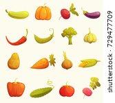 ecological farming production... | Shutterstock . vector #729477709