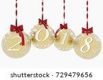 3d illustration. new year 2018...   Shutterstock . vector #729479656