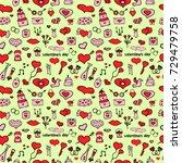 hearts seamless pattern   Shutterstock .eps vector #729479758