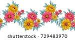 floral seamless border | Shutterstock . vector #729483970