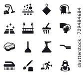 16 vector icon set   vacuum...   Shutterstock .eps vector #729484684