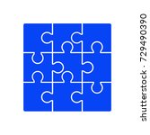 puzzle icon vector | Shutterstock .eps vector #729490390
