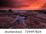 ireland countryside tourist...   Shutterstock . vector #729497824