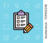 to do list illustration with... | Shutterstock .eps vector #729502258