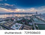 sunset in the city | Shutterstock . vector #729508603