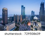 bird view at nanchang china.... | Shutterstock . vector #729508639