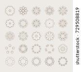set of abstract design elements.... | Shutterstock .eps vector #729508819