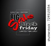 black friday sale background ... | Shutterstock . vector #729515554