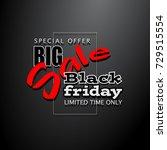 black friday sale background ... | Shutterstock . vector #729515554