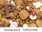 traditional sweets  pepernoten... | Shutterstock . vector #729517396