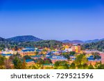 Boone, North Carolina, USA campus and town skyline.