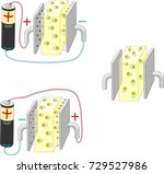 electric dipole in an electric... | Shutterstock .eps vector #729527986
