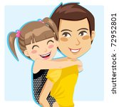 father giving his little girl... | Shutterstock .eps vector #72952801