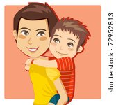 father giving his little boy...   Shutterstock .eps vector #72952813