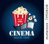 cinema. movie time vector... | Shutterstock .eps vector #729528148
