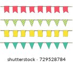 colorful hand drawn doodle... | Shutterstock .eps vector #729528784