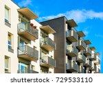 detail of complex of modern... | Shutterstock . vector #729533110