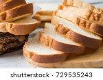 fresh homemade  baked bread and ... | Shutterstock . vector #729535243