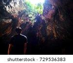 light waves that penetrate...   Shutterstock . vector #729536383