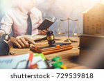 young lawyer help his customer... | Shutterstock . vector #729539818