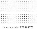 abstract monochrome halftone... | Shutterstock .eps vector #729545878
